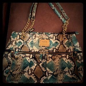Nicole Miller snakeskin purse
